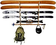 Grassracks Bamboo Ski Racks Fishing Pole Rack and Paddle Rack - The Hallsteiner Series