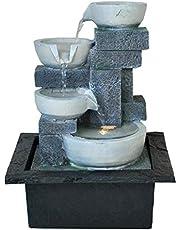 شلال ماء ( نافورة )مصنوع من مادة البولي باضاءة ليد  asl- 5488