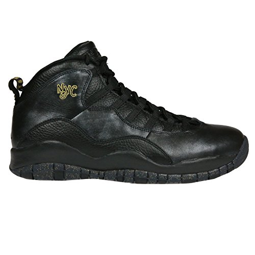 Nike Jordan Men's Air Jordan Retro 10 Black/Black/Drk Grey/Mtllc Gld Basketball Shoe 13 Men US (Jordan Retro 6 For Men)