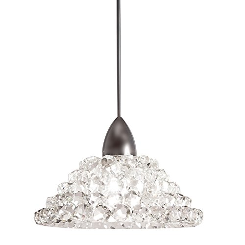(WAC Lighting MP-543-WD/BN Giselle Pendant Fixture with Brushed Nickel Canopy, One Size, Clear Diamond)