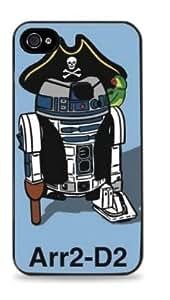 R2D2 Pirate Star Wars Apple iPhone 5C Hardshell Case - Black -684