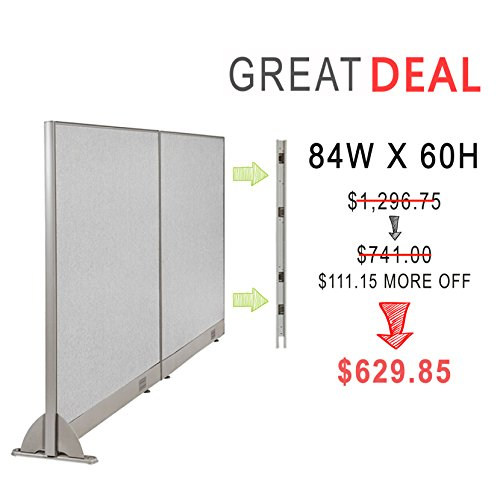 [Christmas Special] GOF Office Freestanding Partition Room divider Wall divider Wall panel Office Wall (Wallmounted 84w x 60h) by GOF