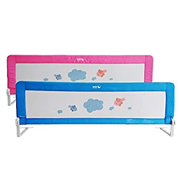 150 180cm Toddler Safety Bed Rail Folding Gate Child Kids Guard Protection