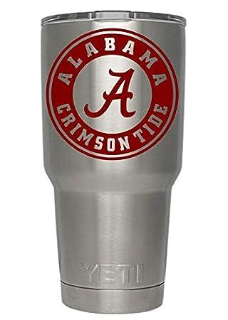 Amazoncom Alabama Crimson Tide Red Decals For Yeti Cups Car - Yeti tumbler stickers