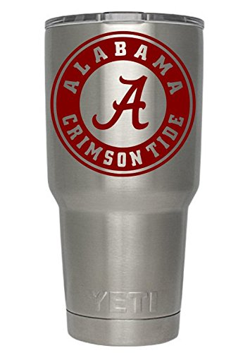 Alabama Car Accessories (Alabama Crimson Tide (Red) Decals for Yeti cups - Car Sticker - Car Decal - Window Sticker for Tumbler, Cup, Car, Truck, Wall, Notebook, SUV, Computer, Laptop, Motorcycle, Helmet)