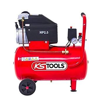 KS Tools - Compresor de aire - compresor de aire de 50 litros - 8 Bars - 2 CV - 230 V - KS Tools 165.0703: Amazon.es: Bricolaje y herramientas