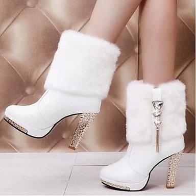 Wuyulunbi@ Zapatos De Mujer Otoño Casual Confortables Botas En Blanco Y Negro,Negro,Us6.5-7 / Ue37 / Uk4,5-5 / Cn37 Negro