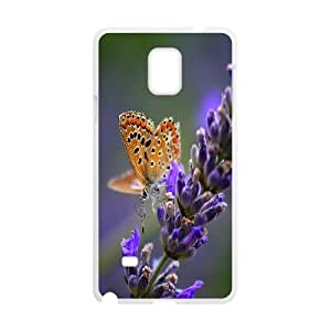 Samsung Galaxy Note 4 Cases Macular Butterfly, Luxury Case for Samsung Galaxy Note 4 - [White] Okaycosama