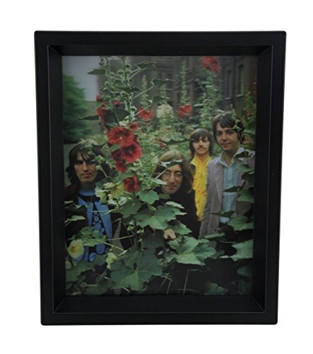 Plastic Shadow Boxes Beatles Mad Day Out Lenticular 8 X 10 Shadowbox Wall Hanging 9.5 X 11.5 X 1.75 Inches Black