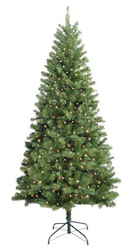 Santa Christmas Tree Forest - Tree Douglas 7Ft Clear Ul,