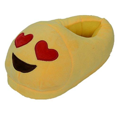 Sabe Unisxe Vrouwen Mannen Thuis Creatieve Emoji Cartoon Expressie Grappige Zachte Paar Pantoffelseks