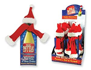 Holiday Bottle Cap N' Wrap Santas Scarf and Hat (1 Pc)