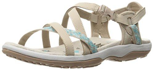 Skechers Women's Regga Slim Keep Close Gladiator Sandal,Taupe/Aqua,9 M US