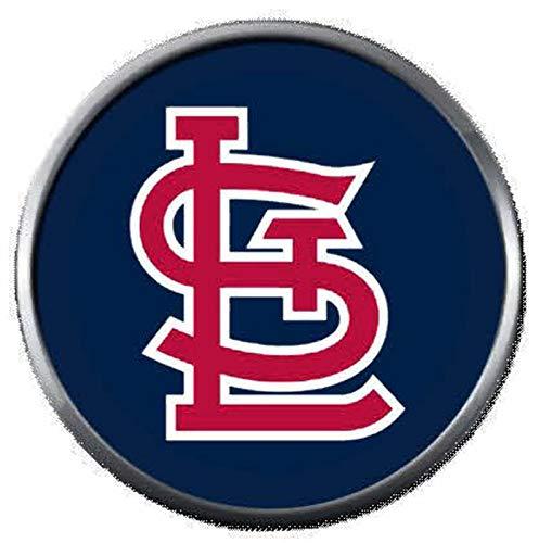 (Cool Logo MLB St Louis Cardinals Baseball 18MM - 20MM Snap Jewelry Charm)