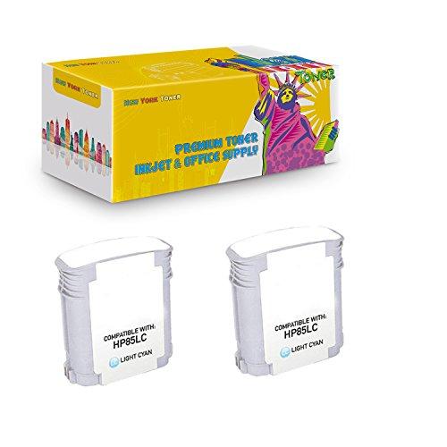 New York TonerTM New Compatible 2 Pack C9428A HP 85 High Yield Inkjet For HP Designjet 30 | 130 . -- Light Cyan
