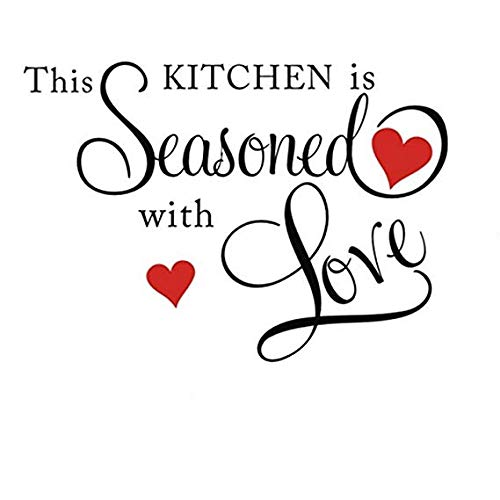 Cheap  Picniva This Kitchen is Seasoned with Love Wall Quote Sticker