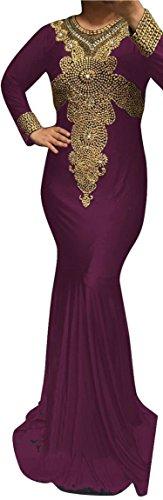 WUBU-Kaftan-Hand-Beaded-Maxi-Dress-Evening-Gowns-Evening-Dresses-Wedding-Dress-Cocktail-Plus-size-USA-SELLER