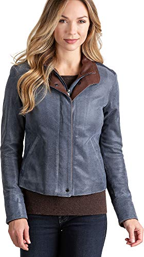 Overland Sheepskin Co Rita Distressed Lambskin Leather ()