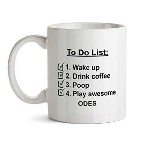 Odes Music Gift Mug - AA46 Check List To Do Funny About Musical Lover Quote Theme Themed Coffee Gift Novelty Cup For Teacher Director Player For Men Women