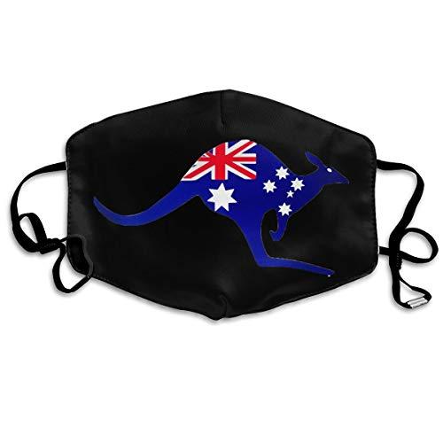SyjTZmopre Kangaroo Australia Flag Mouth Mask Unisex Printed