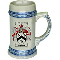 Thomas Family Crest Stein / Coat of Arms beer mug