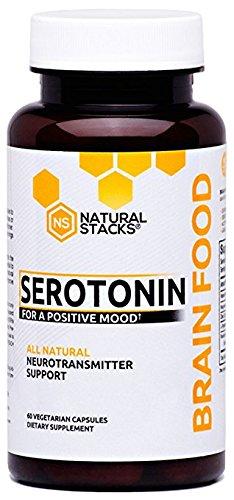 Natural Stacks Suplemento comida de cerebro - serotonina cerebro alimentos (60 cápsulas) - promueve