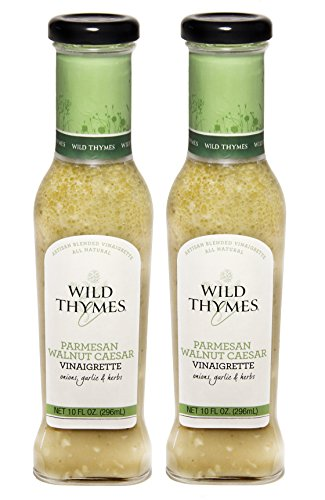 Red Onion Vinaigrette (PARMESAN WALNUT CAESAR VINAIGRETTE & MARINADE by Wild Thymes Farm, 10oz (Pack of 2))
