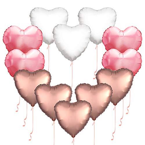 Buy heart ballons white