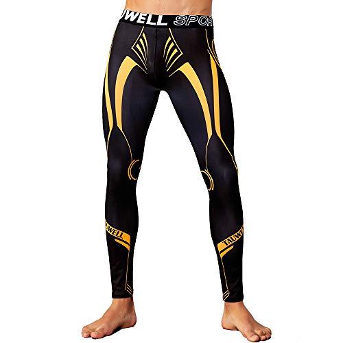 Haute Sport Course Pour Leggings Yoga Pied Pantalon Capri Dames Fitness Femmes  De Jaune Taille Survêtement ... 4c55060e429