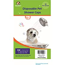 Disposable Pet Shower Caps, Shower, Raining, Swimming, Dogs, 12 Caps in a Pack (Large)
