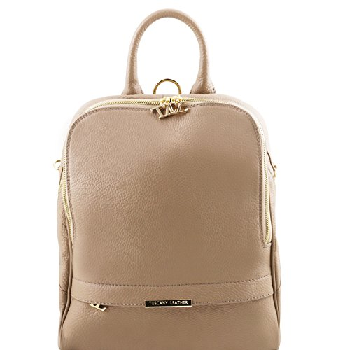 Tuscany Leather TL Bag Soft leather backpack for women Light Taupe by Tuscany Leather