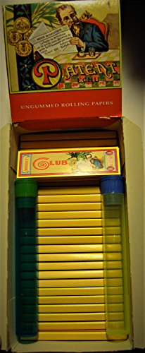 CLUB Modiano Carre Parallel Cigarette Rolling Papers NO GUM 25 PACKS HALF INCLUDES 2 DOOB TUBES