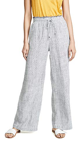 Woven Railroad Stripe - Splendid Women's Railroad Stripe Pants, Navy/Natural Pinstripe, X-Small