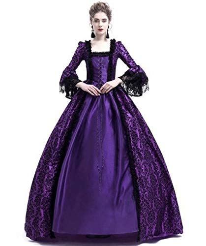 Women's Mdieval Victorian Floor Dress Halloween Cosplay -