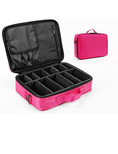 TUTOU Professional Cosmetic case, partition Storage Large Cosmetic case Makeup Artist with Makeup Portable Beauty kit Tattoo Tool kit (red and Black),Crose -