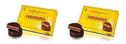 Alfajores Havanna of Chocolate with dulce de leche x6 / 2 PACKS