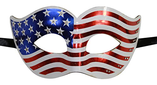 KAYSO INC Lady Liberty Patriotic American Flag Masquerade Mask USA Design (Original) ()