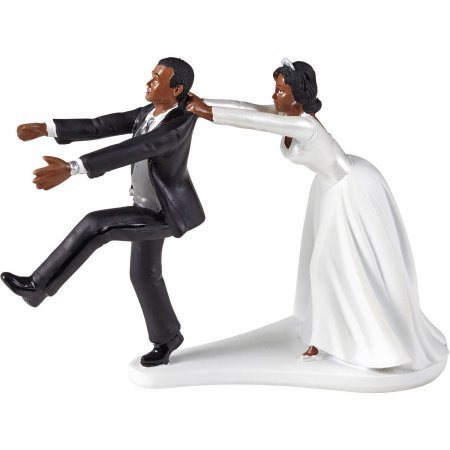 Wilton Wedding Humorous Cake Topper Oh No You Dont Black White