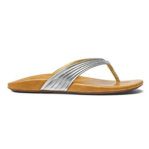 Olukai Wana Silver/Sahara Womens Thong Size 9M by OluKai