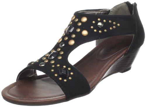 Rampage Women's Queenie T-Strap Sandal,Black,6.5 M US - Rampage T-strap Sandals