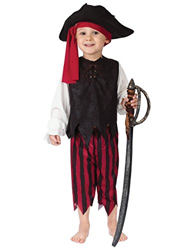 Fun World Boys' Toddler Caribbean Pirate, Multi, Small ()