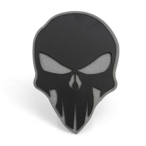 All Sales AMI 1042KAM Skull Style Black On Anthracite Hitch Cover