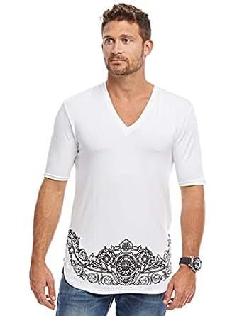 Afterlife White V Neck T-Shirt For Men