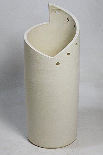 白スパイラル傘立 信楽焼 陶器 傘立 B01MSVXQSU