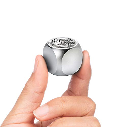 Pizzi Mini Portable Silver Bluetooth Speaker Amazing Sound Indoor and Outdoor Pizzi Speaker – Two can Make Stereo (Grey)
