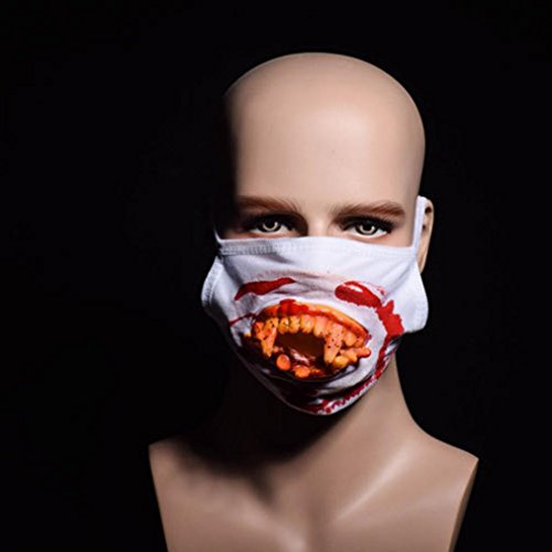 Supersoft Doa Mask (New Halloween Mask Mouth Mask ,Zombies Bloody Horrific Gift For Halloween ,Nacome (B))