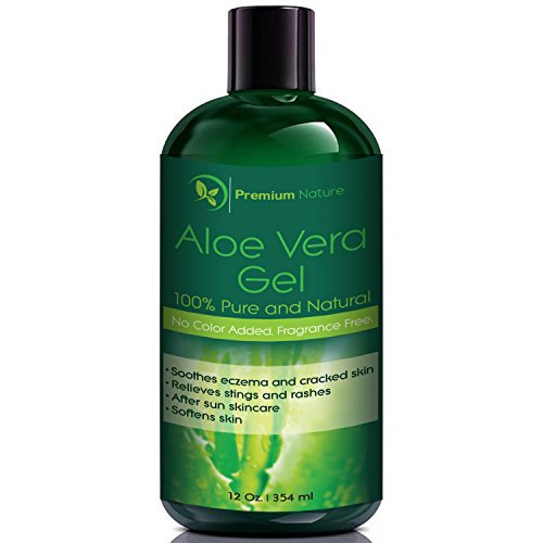 Diazolidinyl Urea (Aloe Vera Gel for Face Body & Hair, 12 oz, Pure & Natural, Soothes Eczema, After Sun Skin Care, By Premium)