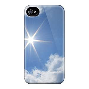 Hot Tpye Nature Sun And Clouds Case Cover For Iphone 4/4s