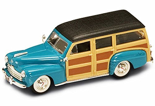 1948 Ford Woody, Turquoise - Yatming 94251 - 1/43 Scale Diecast Model Toy (43 Scale Replica Model)