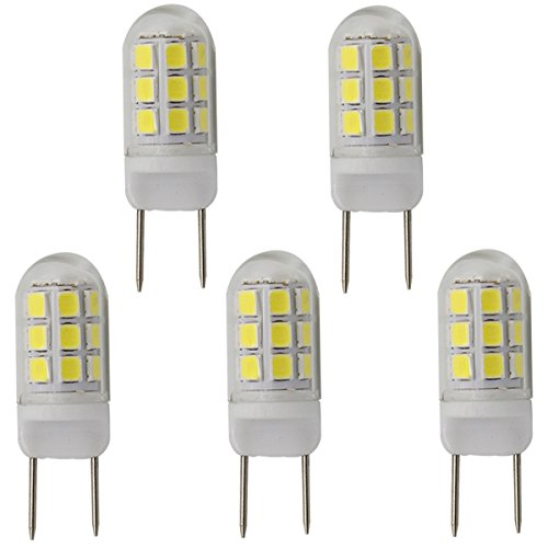 G8 led Bulbs dimmable 3.5W, 20W 25W 35W g8 gy8.6 Replacement (35W Equivalent), AC110-130V Daylight White 6000K, Pack of 5 (Daylight White 6000K)